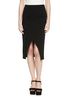 Alice + Olivia Denby Crossover Crepe Pencil Skirt