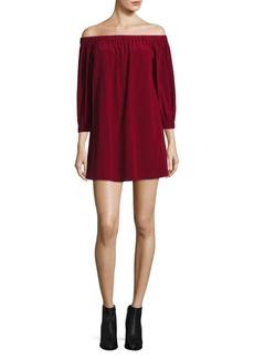 Alice + Olivia Desiree Off-The-Shoulder Tunic Dress