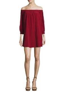 Alice + Olivia Desiree Off-the-Shoulder Tunic Dress