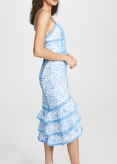 alice + olivia Diane Tiered High Low Dress