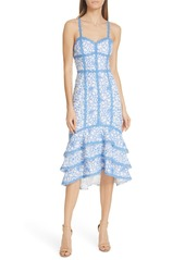 Alice + Olivia Diane Tiered High/Low Dress