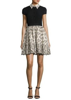 Alice + Olivia Dolly Butterfly Pouf Party Dress