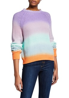 Alice + Olivia Dona Colorblock Crewneck Raglan-Sleeve Sweater