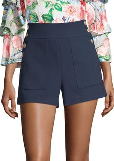 Alice + Olivia Donald Side Button Shorts