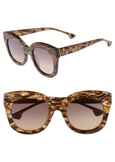Alice + Olivia Downing 51mm Cat Eye Sunglasses