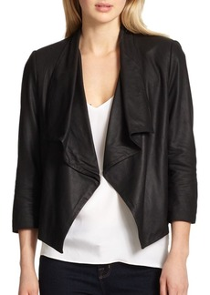 Alice + Olivia Draped Leather Jacket