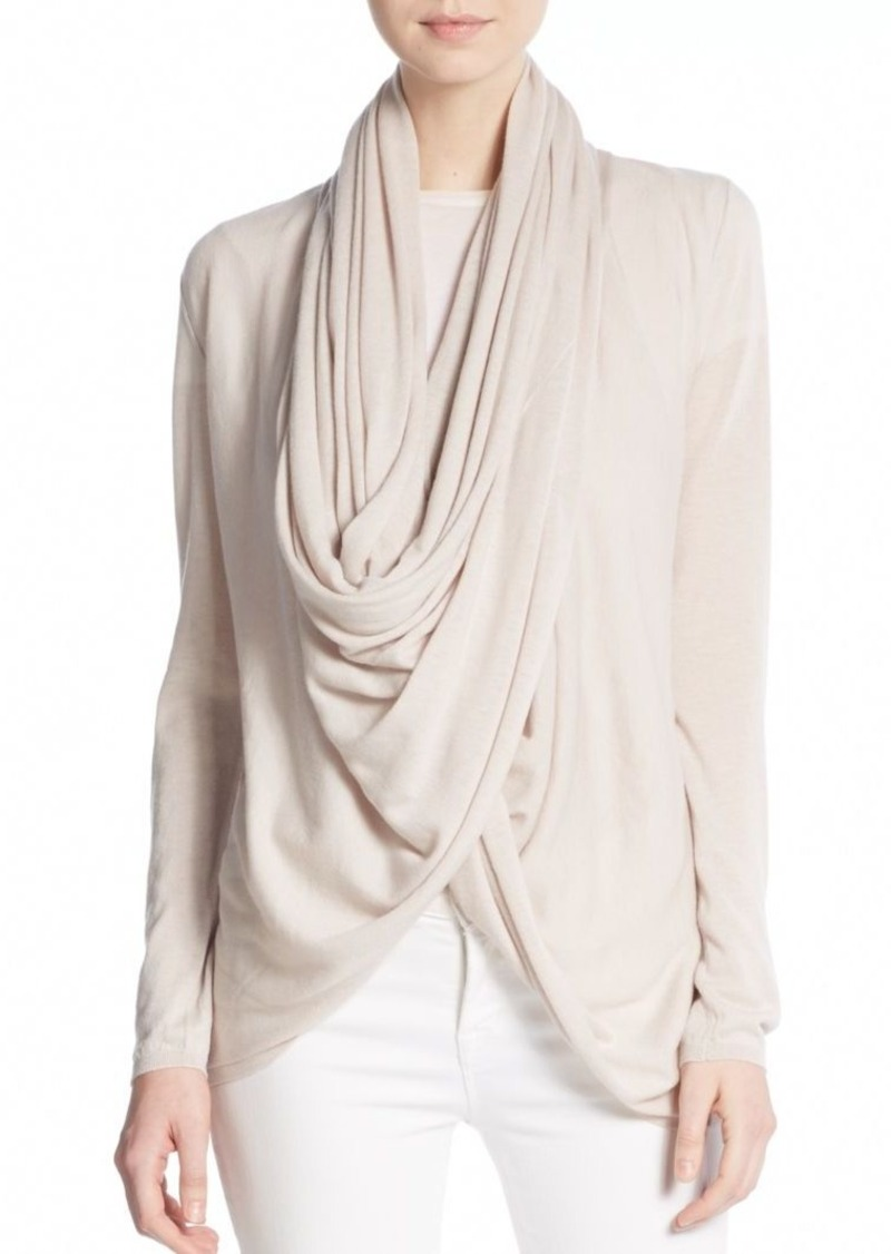 Alice + Olivia Draped Wool & Cashmere Wrap Sweater