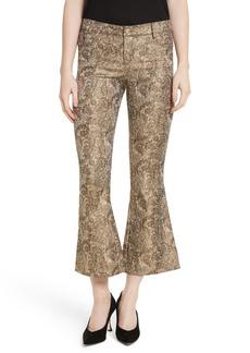 Alice + Olivia Drew Metallic Crop Bell Pants