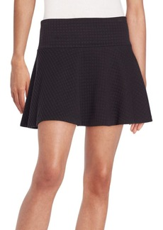 Alice + Olivia Drop-Waist Textured Knit Miniskirt