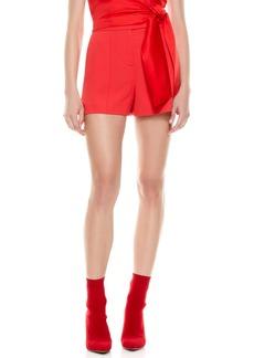 Alice + Olivia Dylan High Waist Pintuck Shorts