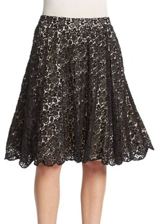 Alice + Olivia Earla Embellished Flare Skirt