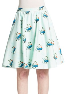 Alice + Olivia Earla Pleated Flared Skirt