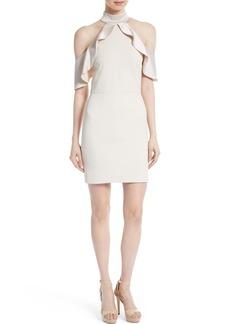 Alice + Olivia Ebony Cold Shoulder A-Line Dress