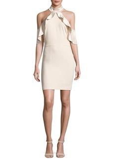 Alice + Olivia Ebony Cold-Shoulder Cocktail Dress