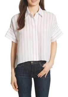Alice + Olivia Edyth High/Low Button Down Shirt