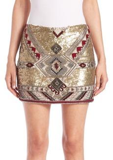 Alice + Olivia Elana Embellished Mini Skirt