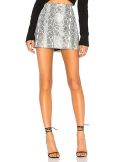 Alice + Olivia Elana Leather Mini Skirt
