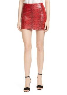 Alice + Olivia Elana Leather Miniskirt