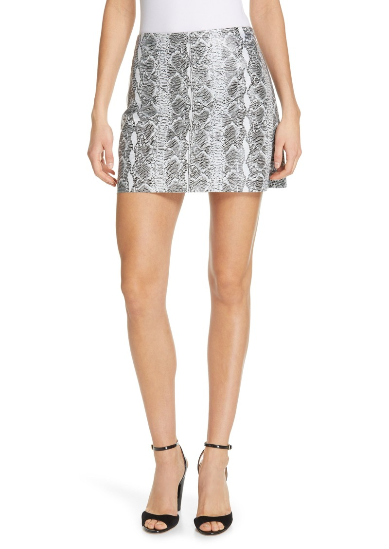 Alice + Olivia Elana Leather Miniskirt
