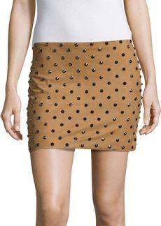 Alice + Olivia Elana Studded Suede Skirt