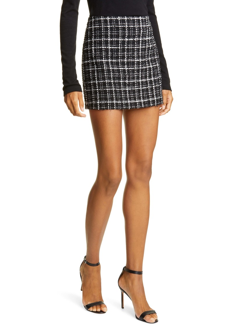 Alice + Olivia Elana Tweed Miniskirt