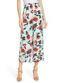 Alice + Olivia Elba Floral Crop Pants