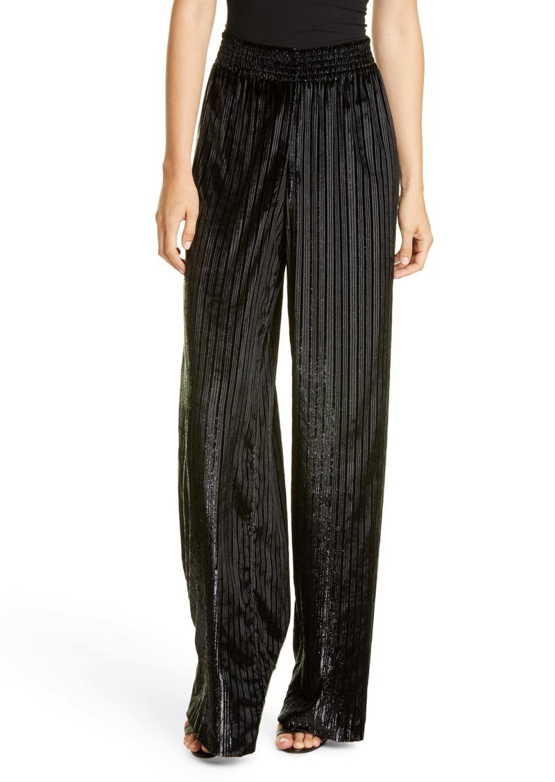 Alice + Olivia Elba Metallic Stripe Wide Leg Pants