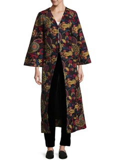 Alice + Olivia Eleonora Embroidered Poet Jacket
