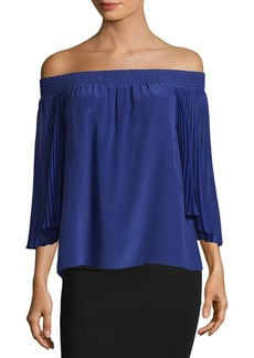 Alice + Olivia Elina Off-The-Shoulder Blouse