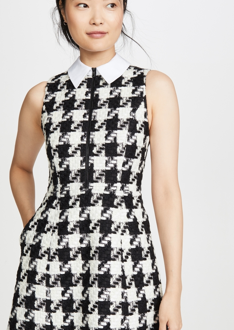 alice + olivia Ellis Gathered Zip Front Dress