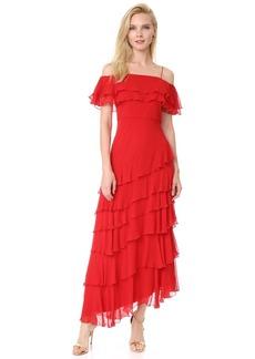 alice + olivia Eloisa Off Shoulder Ruffle Gown