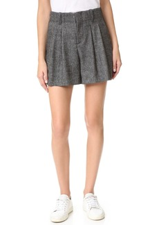 alice + olivia Eloise High Waist Pleated Shorts