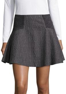 Alice + Olivia Elsie Angled Yoke Fit-&-Flare Skirt