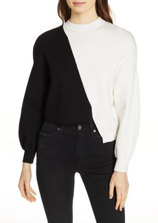 Alice + Olivia Elyse Asymmetrical Crop Pullover