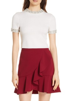 Alice + Olivia Embellished Crop Sweater