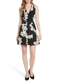 Alice + Olivia Embellished V-Neck Dress