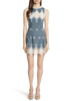 Alice + Olivia Embroidered Minidress