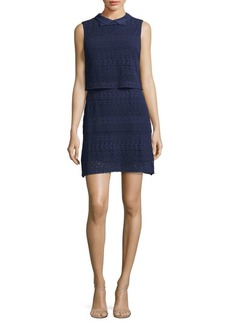 Alice + Olivia Embroidered Sheath Dress
