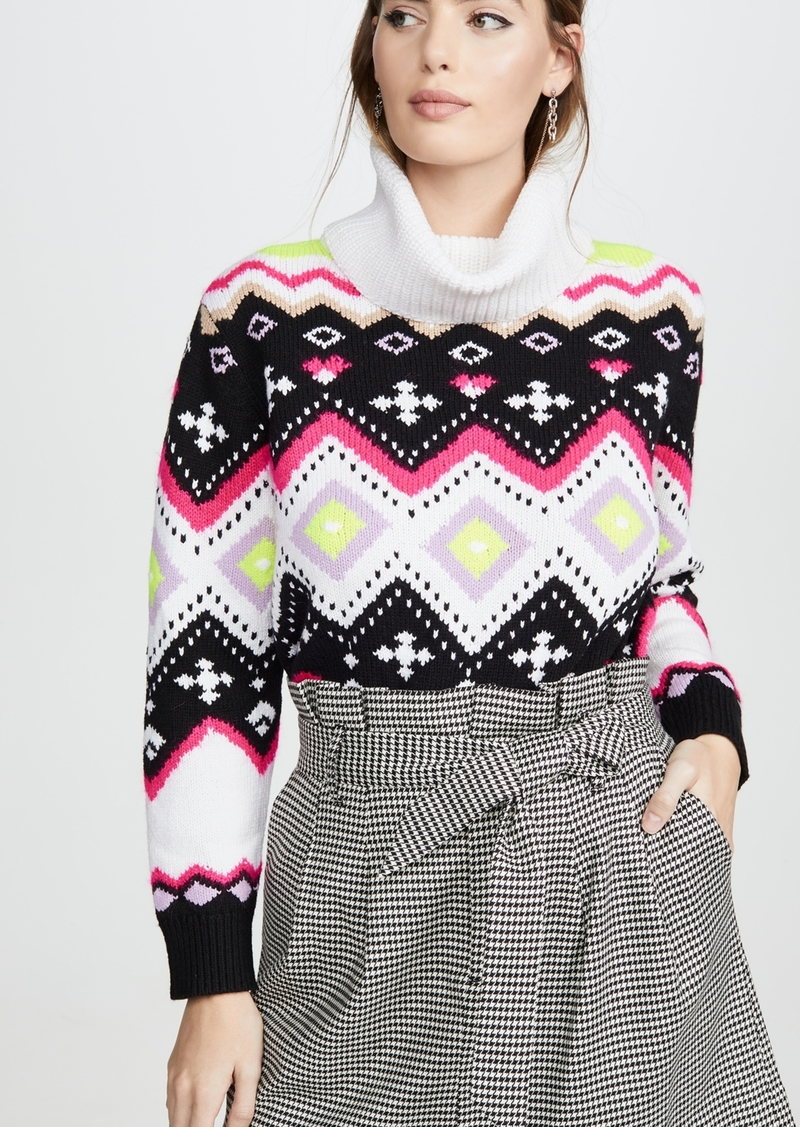 alice + olivia Emett Relaxed Fairisle Tunic