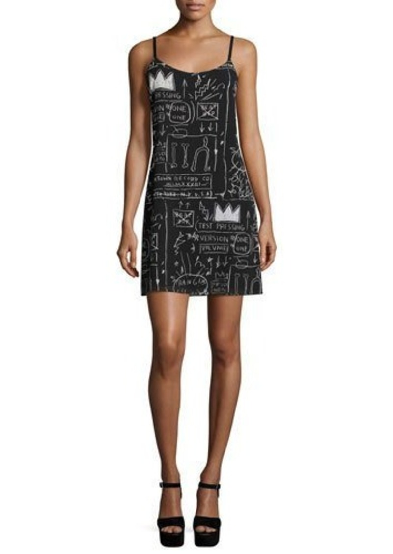 Alice + Olivia Emmie Printed Slip Dress
