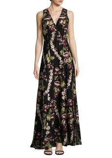 Alice + Olivia Empire V-Neck Gown