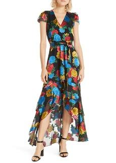 Alice + Olivia Erika Ruffle High/Low Midi Dress
