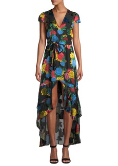 Alice + Olivia Erika Ruffle Midi Dress