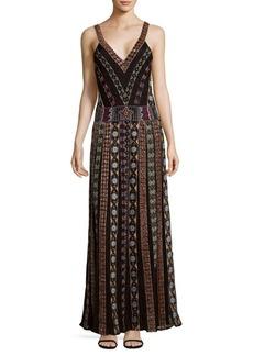 Alice + Olivia Ersa Embroidered Maxi Dress