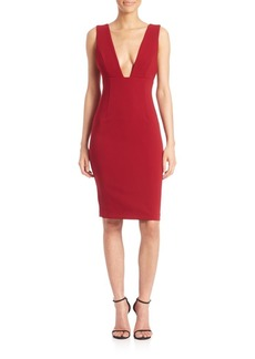 Alice + Olivia Esmira Deep V-Neck Dress