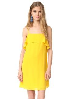 alice + olivia Etta Spaghetti Strap Ruffle Slip Dress