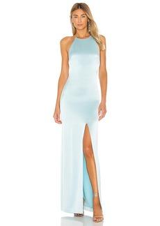 Alice + Olivia Ettley Halter Maxi Dress