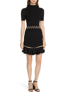 Alice + Olivia Evelyn Embellished Fit & Flare Dress