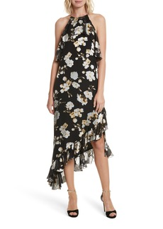 Alice + Olivia Fabiola Asymmetrical Ruffle A-Line Dress