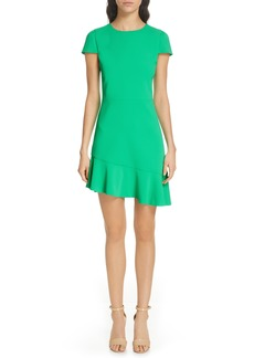 Alice + Olivia Fable Asymmetrical Ruffle Dress